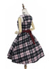 Back Side View w/o fur shawl (Pink & Black Plaid Ver.) (petticoat: UN00019)