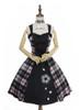 Front View w/o fur shawl (Pink & Black Plaid Ver.) (petticoat: UN00019)
