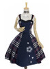 Front View w/o fur shawl (Dark Blue & White Plaid Ver.) (petticoat: UN00019)