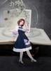Creative Model Show (Dark Blue Storm + White Underdress Ver.) (hair bow: P00653, petticoat: UN00019, socks: AD00903)