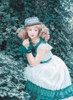 Model Show (White + Emerald Green Ver.) (hat: P00652, petticoat: UN00026)