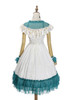 Back View (White + Emerald Green Ver.) (petticoat: UN00026)