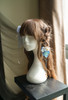 Sleeping Fox, Chic New Chinese Style Handmade Bowknot Blossom Hairpin Set Blue Headdress Elegant Hair Accessory