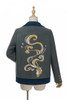 QUANTITY LIMITED: Sleeping Fox, 将鸣 JiangMing Chic New Chinese Style Cool Fashion Embroidery Thick Wool Jacket Stylish Unisex Long Sleeves False 2pcs Short Winter Coat*Instant Shipping