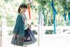 Model Show (Dark Blue + Pale Mint Ver.) (headdress: P00655, jacket: CT00312, blouse: TP00179, petticoat: UN00026)