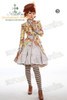 doublet jacket outside: CT00196;jacket + skirt set:DR00149 blouse inside:TP00132;watch: AD00556;stockings: P00447