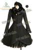 Front View (Black Wool & Fur) (beret: P00406, petticoat not for sale)
