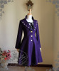Elegant Gothic Aristocrat Formal Half-Mandarin & Lapel Collar Wool Frock Coat