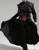 Whale Bones Bay, Pirate Gothic Leather Dragon Wings Corset Vest Long Coat for Man*Man M Instant Shipping