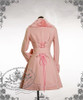 Elegant Gothic Lolita Fur Lapel Corset Medium Long Wool Coat