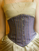 Vintage Underbust Corset Top Steel Boned Corset Black White Golden