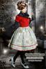 Last Chance: Fire Balloon Adventure Steampunk Lolita: Corset Lacing Up Dress& Bowknot Headdress*2colors Instant Shipping