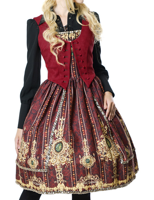 Gothic Lolita Fashion Dress Tuxedo Ball Dress*black,mint,burgundy,moon night blue