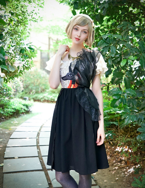 Vintage Retro Fashion Casual Midi Dress Anubis Womens Summer Prom Dress