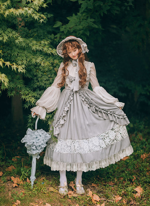 Model Show (Grey + White Ver.) (bonnet: P00641, petticoat: CT00040S)
