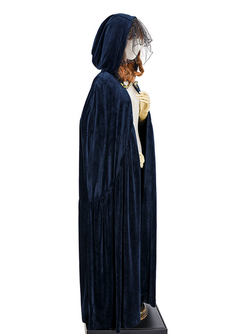 Vintage Retro Medieval Cloak Chic Winter Hoodie Mantle Fantasy Blue ...