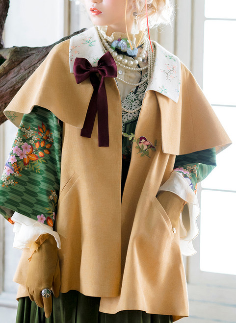 Model Show (Japanese style half coat underneath: CT00309, blouse underneath: TP00174, skirt: SP00198) other items NOT for sale