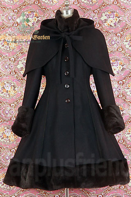 Front View (Black Wool & Fur)