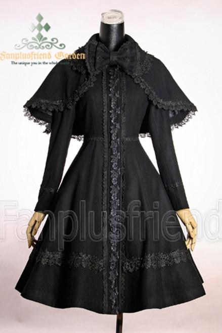 Front View (Black + Black Lace)