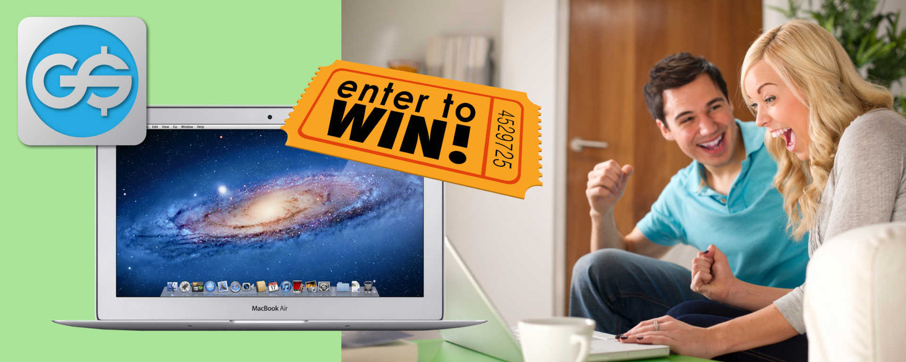 GainSaver is giving away a $650 Macbook Air in our June-July 2016 Sweepstates - Enter Now