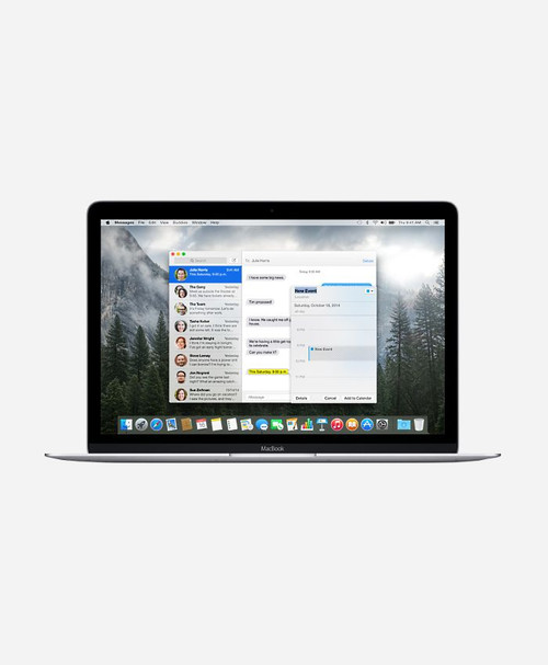 Refurbished Apple Macbook (Early 2015) Silver Retina Front