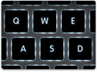 The used cheap Macbook Air keyboard is full size with backlit keys that adjust automatically.