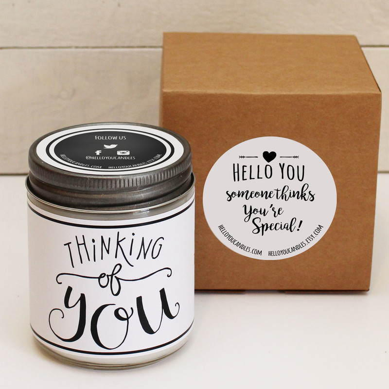 Love Heart Soy Candle Gift