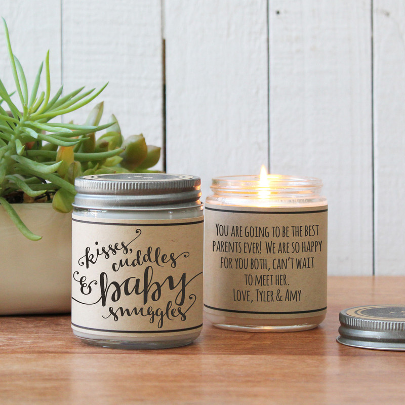Kisses, cuddles and baby snuggles soy candle