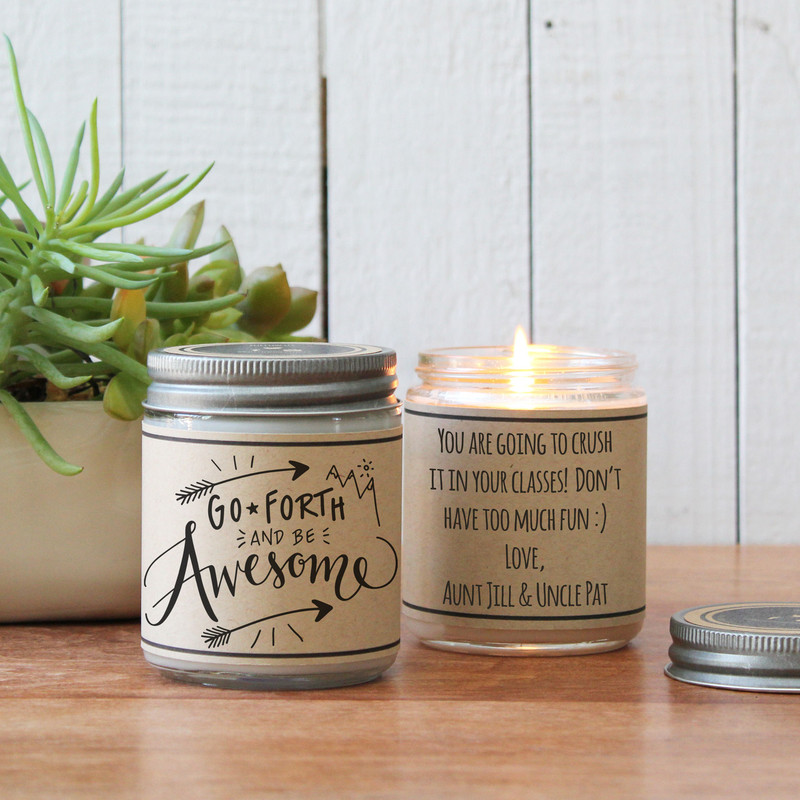 Go Forth And Be Awesome Soy Candle Gift