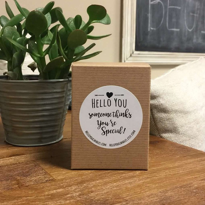 Hello Friend - Personalized Candle Gift