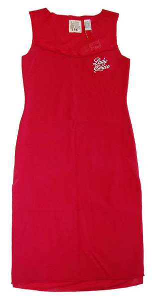 Lady Enyce Red Mesh Back Dress