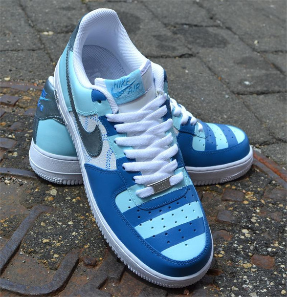 Blue Stripes Custom Air Force One Sneakers