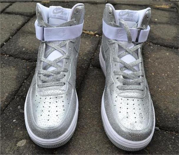 Silver Dollar Custom Air Force One Sneakers