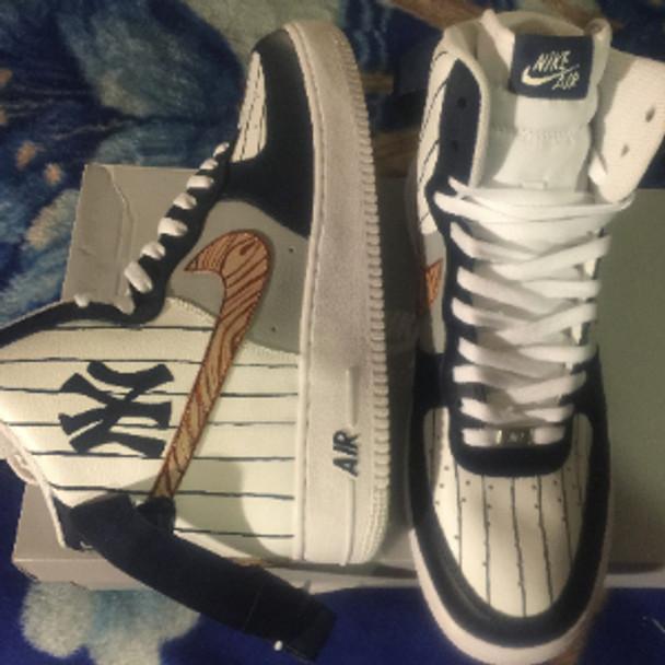 Remixdakicks Yankees Custom Painted Kicks