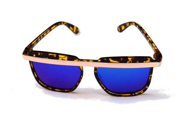 Blue Glass Bar Sunglasses