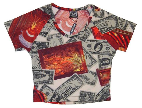 O' Sport Jeans Cash Money Graphic Crop Top