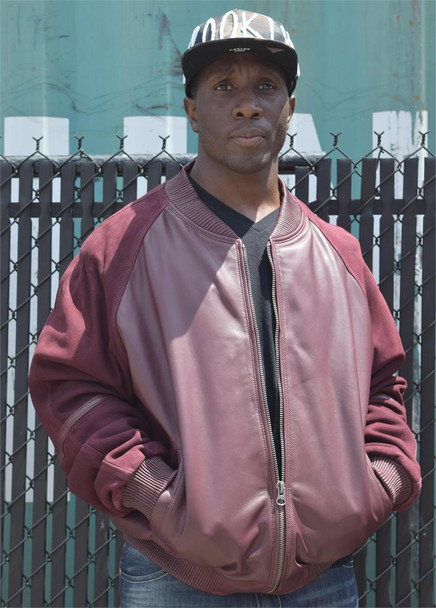 Wine Leather and Suede Jacket