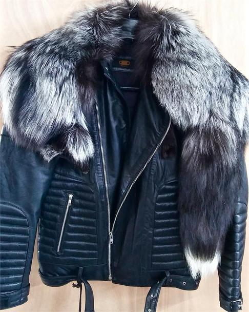 Eighteen Motorcycle jacket with full coyote collar