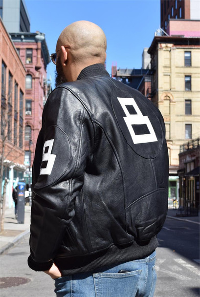 Black and White Mens 8 Ball Jacket