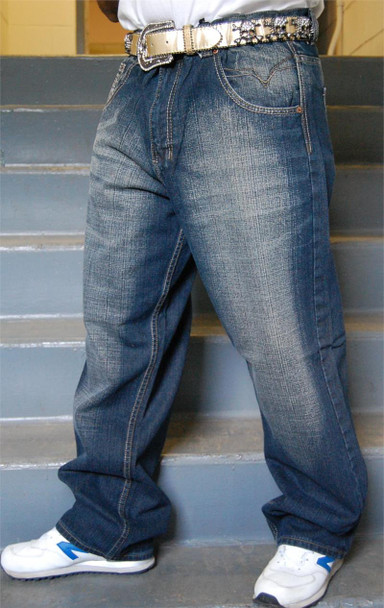 Men's Relaxed Fit Ink Denim JeansMen's Relaxed Fit Ink Denim Jeans