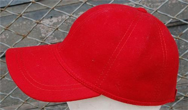 Red Fleece Baseball Cap