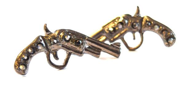 Silver/Dark Gray Revolver Studs