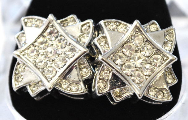 Silver Spiked Studded Earrings