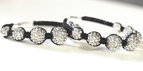 Silver Studded Hoops