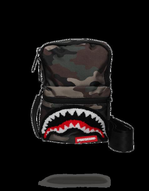 Sprayground Camo Shark Mini Sling (B1679)