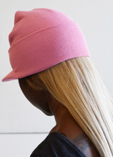 Pink Beanie Visor