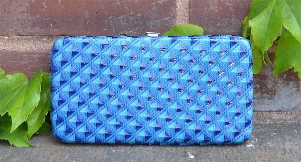 Blue Squares Hard Wallet
