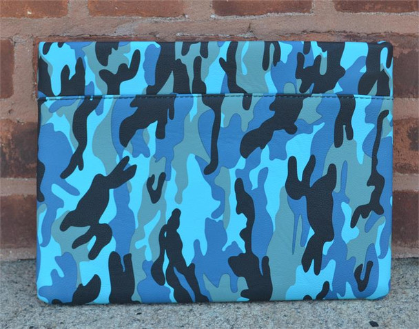 Blue Camouflage Envelope Clutch