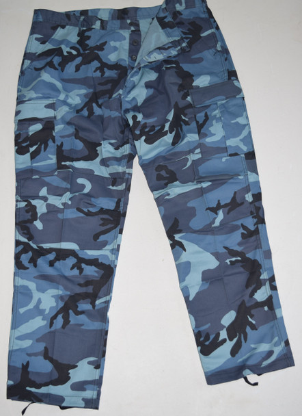 Blue Fatigue Army Cargo Pants
