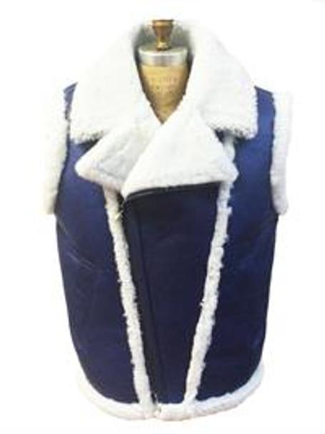 Jakewood G Gator Blue Sheepskin Vest